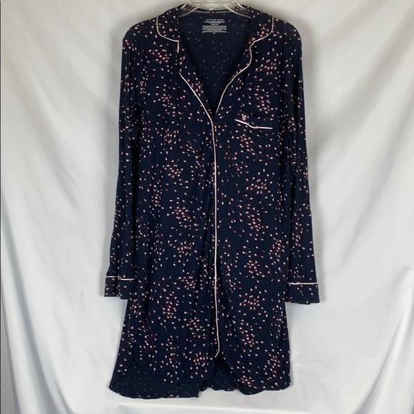 Victoria's Secret Other - Victoria's Secret navy soft pajama long shirt gown